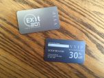 Silver Metal Business Cards (Aluminum)