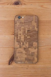 Laser-Etched iPhone Case / Wrap-- Digital Camo