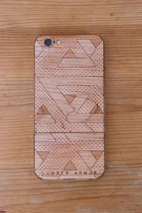 Laser-Etched iPhone Case / Wrap -- Retro Zag