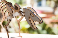 Laser-Cut Tasmanian Tiger (Thylacine) Model