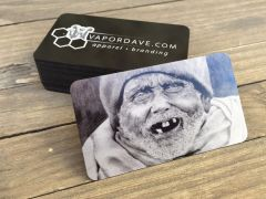 Black Metal Business Cards (Aluminum)