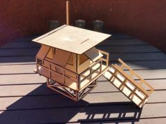 Laser-Cut Lifeguard Stand Model