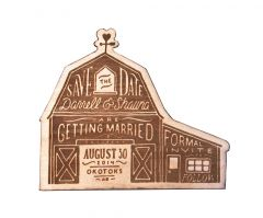Laser-Cut Save the Dates