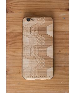 Laser-Etched iPhone Case / Wrap -- Square Zag