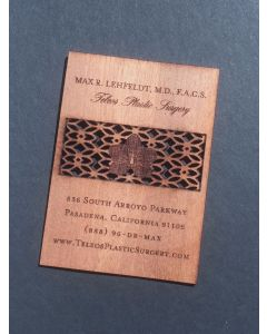 Mahogany Business Cards