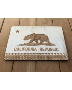 Laser-Etched Postcard - California Bear