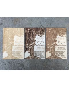 Laser-Cut Invitations - Wooden