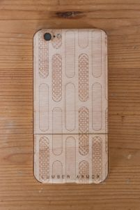 Laser-Etched iPhone Case / Wrap -- Grate Design