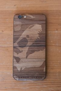 Laser-Etched iPhone Case / Wrap -- Jurassic Bark