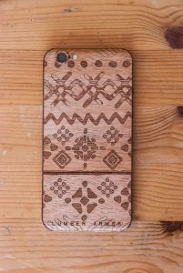 Laser-Etched iPhone Case / Wrap -- Tribe