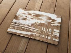 Laser-Etched Postcard - Hermosa Beach Pier