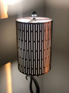 Laser-cut Lampshade - Thin Rectangle Design