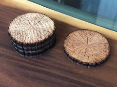 Laser-Cut Wood Coasters