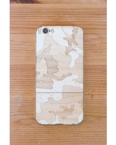 Laser-Etched iPhone Case / Wrap -- Wood Camo