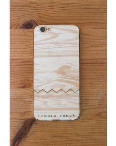 Laser-Etched iPhone Case / Wrap -- Wood Grain #3