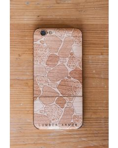 Laser-Etched iPhone Case / Wrap -- Rock Garden