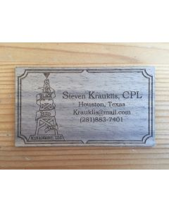 Laser cut business cards eq products walnut business cards solid wood reheart Images